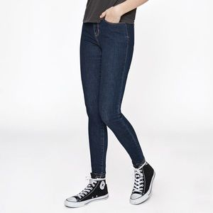 Pacsun High rise Jegging raw blue